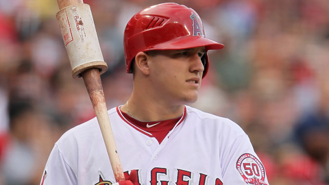 Mike Trout played in 40 Major League games for the Angels last year.