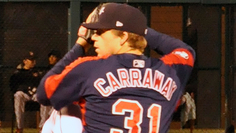 Andrew Carraway is 5-0 with a 2.18 ERA across two levels this season.