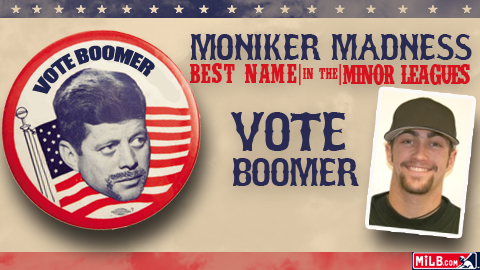 Boomer Potts is a contestant in MiLB.com's Moniker Madness tournament