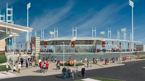 Hillsboro's stadium will feature a 360-degree concourse when it opens in June.