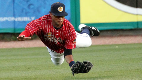 Mason Williams made just one error in 91 games with two teams in 2012.